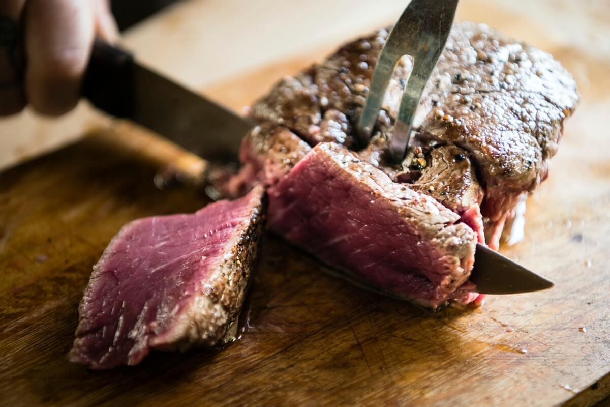 roast beef being carved